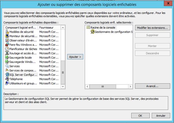 sql installation des outils client connectivité