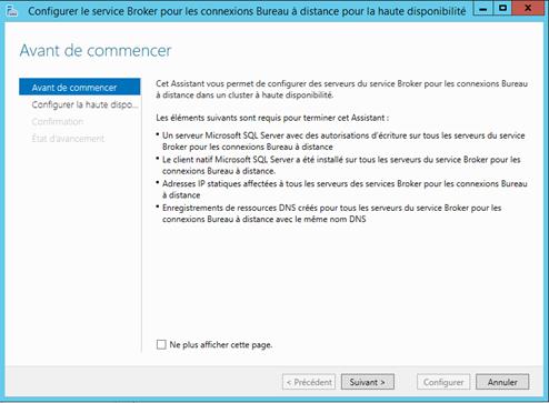Installation configuration rds 2012r2 avec broker sur - Bureau a distance windows server 2012 ...